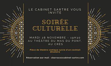 Invitation à la soirée culturelle